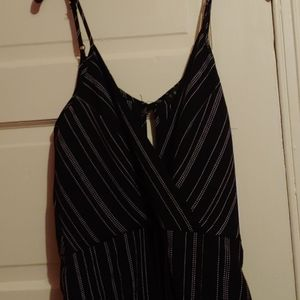 Black and white stripped dotted romper